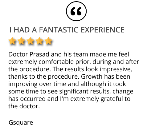 Testimonial on TrichoStem hair loss solution in Long Island NY